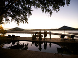 Drinks By the Pool At Lugenda Wilderness Camp in the Niassa Reserve Photographic Print by Jad Davenport