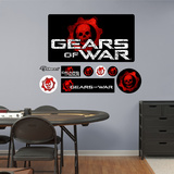 Gears of War Logo Wall Decal Sticker Wall Decal