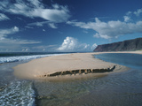 Queen's Pond, a Small, Encircled Reef Area in Polihale State Park Photographic Print by Diane & Len Cook & Jenshel