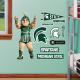 Michigan State Mascot Sparty - Fathead Jr. Wall Decal Sticker Wallstickers