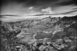 View From the Northeast Ridge of Capitol Peak to Pierre Lakes Photographic Print by David Hiser