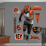 NFL Cincinnati Bengals Rey Maualuga - Linebacker Wall Decal Sticker Wall Decal