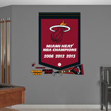 NBA Miami Heat Championships Banner Wall Decal Sticker Wall Decal