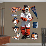 Detroit Tigers Paws the Tiger Wall Decal Sticker Wall Decal