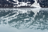 Reflection of a Glacier in the Ocean in Glacier Bay National Park Photographic Print by Ira Block