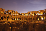 Night View of Rome's Colossum with the Hypogeum, Its Lower Structure Photographic Print by Dave Yoder
