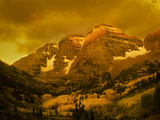 Southwest View of Maroon Peaks in the Maroon - Snowmass Wilderness Area Photographic Print by David Hiser