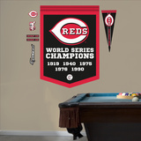 MLB Cincinnati Reds World Series Championships Banner Wall Decal Sticker Wall Decal