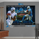 NFL Detroit Lions Calvin Johnson Jr. - 2012 Receiving Yards Record Mural Decal Sticker Wall Decal