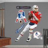 NFL New England Patriots Tom Brady - Throwback Wall Decal Sticker Wall Decal