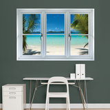 Virgin Islands Beach Instant Window Wall Decal Sticker Veggoverføringsbilde