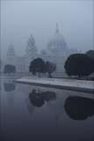 Victoria Memorial Is Enveloped in Ground Fog On a Cold Winter Morning in Calcutt Photographic Print by Steve Raymer
