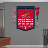 MLB St. Louis Cardinals World Series Championships Banner Wall Decal Sticker Wall Decal