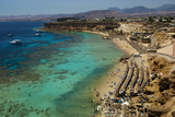Swimmers, Snorkelers and Sunbathers Enjoy the Water in Sharm El Sheikh Photographic Print by Matt Moyer