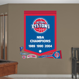 NBA Detroit Pistons Championships Banner Wall Decal Sticker Wall Decal
