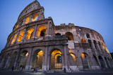 Lights in the Colosseum in the Evening Photographic Print by Matt Propert
