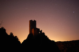 Stars Silhouette the Quertinheux Tower At the Cathar Castle, Chateau De Lastours Photographic Print by Dave Yoder