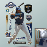 Milwaukee Brewers Rickie Weeks Wall Decal Sticker Wall Decal