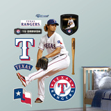 Texas Rangers Yu Darvish Wall Decal Sticker Wall Decal