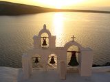 Sunset On the Aegean Sea, Behind a Set of Church Bells Photographic Print by Charles Kogod