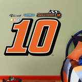 Nascar Danica Patrick 2013 10 Logo Junior Wall Decal Sticker Wall Decal