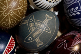 Close Up of Ornately Decorated Easter Eggs Photographic Print by Joe Petersburger