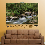 Wilderness Stream Wall Decal Sticker Veggoverføringsbilde