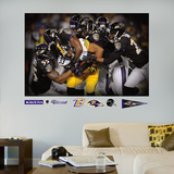 NFL Baltimore Ravens Baltimore Ravens Defense Swarm Mural Decal Sticker Wall Mural