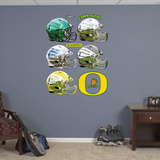 Oregon Ducks Helmet Collection Wall Decal Sticker Wallstickers