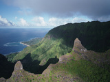 McKenna Point On the Rugged Coastline of the Na Pali Coast Photographic Print by Diane & Len Cook & Jenshel
