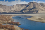 A High Angle View of the Lhasa River and Nearby Mountains Photographic Print by Kent Kobersteen