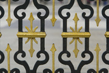 Wrought Iron Fence with Gilded Decoration At the Royal Palace Photographic Print by Joe Petersburger