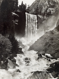 Vernal Falls Plunges to the Rock Gorged Merced River Photographic Print by Harriet Chalmers Adams