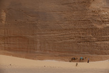A Bedouin Walks with His Camels Through the Landscape of the Sinai Papier Photo par Matt Moyer