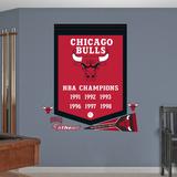NBA Chicago Bulls Championships Banner Wall Decal Sticker Muursticker
