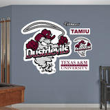 NCAA Texas A&M International Dustdevils Logo Wall Decal Sticker Wall Decal