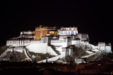 Potala Palace At Night Photographic Print by Kent Kobersteen