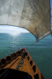 View From a Fishing Dhow Off the Coast of Matemo Island, Mozambique Fotografisk tryk af Jad Davenport