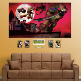 Teenage Mutant Ninja Turtles Rooftop Mural Decal Sticker Autocollant mural