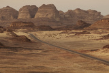 A Road Passing Through the Sinai Desert Landscape Photographic Print by Matt Moyer
