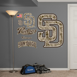 MLB San Diego PadresCamo Logo Wall Decal Sticker Wall Decal