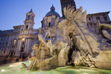 Church of Sant'Agnese in Agone and the Four Rivers Fountain Photographic Print by Matt Propert