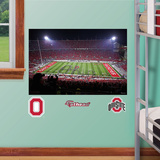 OSU Stadium Mural Junior Script Ohio Decal Sticker Veggoverføringsbilde