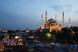 The Blue Mosque in Sultanahmet, Istanbul, At Dusk Photographic Print by Dave Yoder
