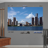 Detroit Skyline Mural Decal Sticker Wall Decal