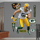 NFL Green Bay Packers Clay Matthews - Away Wall Decal Sticker Wall Decal