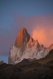 Cerro Fitz Roy Glows Pink At Dawn As Seen From the Rio Blanco Valley Photographic Print by Beth Wald