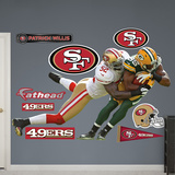 NFL San Francisco 49ers Patrick Willis - Greg Jennings 2012 Wall Decal Sticker Wall Decal