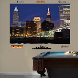 Cleveland Skyline Mural Decal Sticker - Duvar Resmi