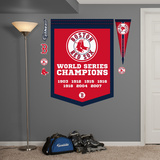 MLB Boston Red Sox World Series Championships Banner Wall Decal Sticker Wall Decal